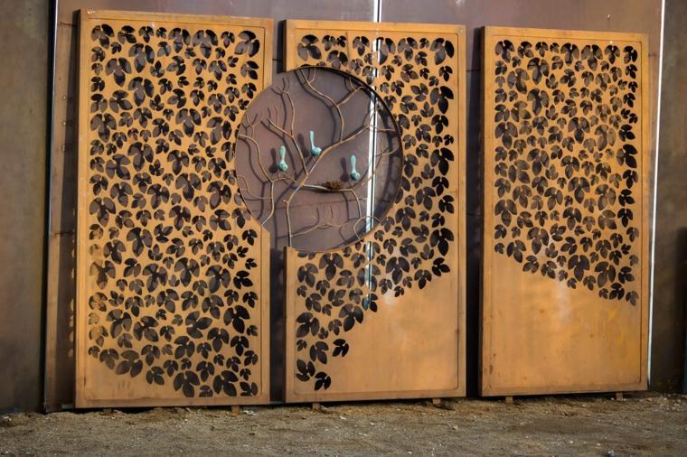 Acero puro vallas y paneles de corten muy atractivos for Acero corten perforado oxidado