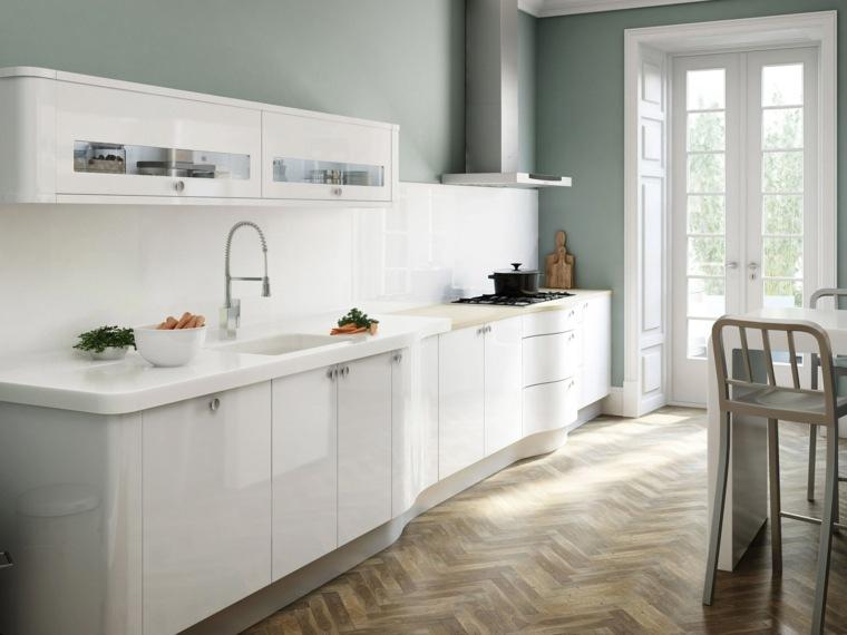 Cocina blanca 42 dise os de cocinas que te encantar n - Pared cocina pintada ...
