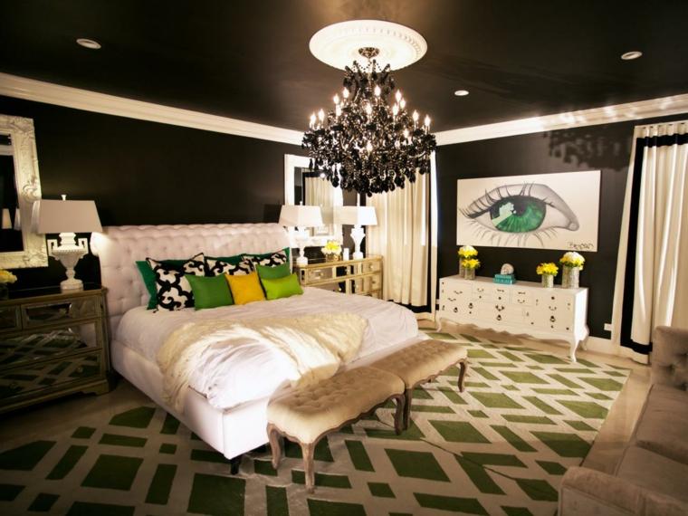 pared techo dormitorio color negro