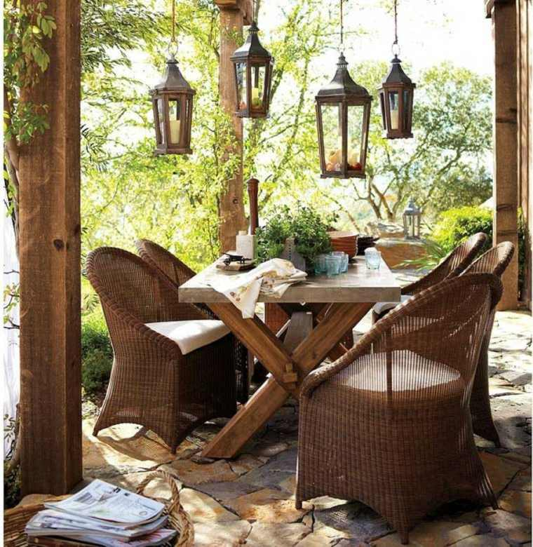 patio decoraciones estilos muebles mesas