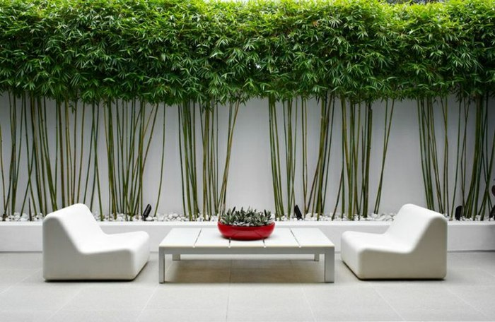 patios exteriores mueors bambu rojos