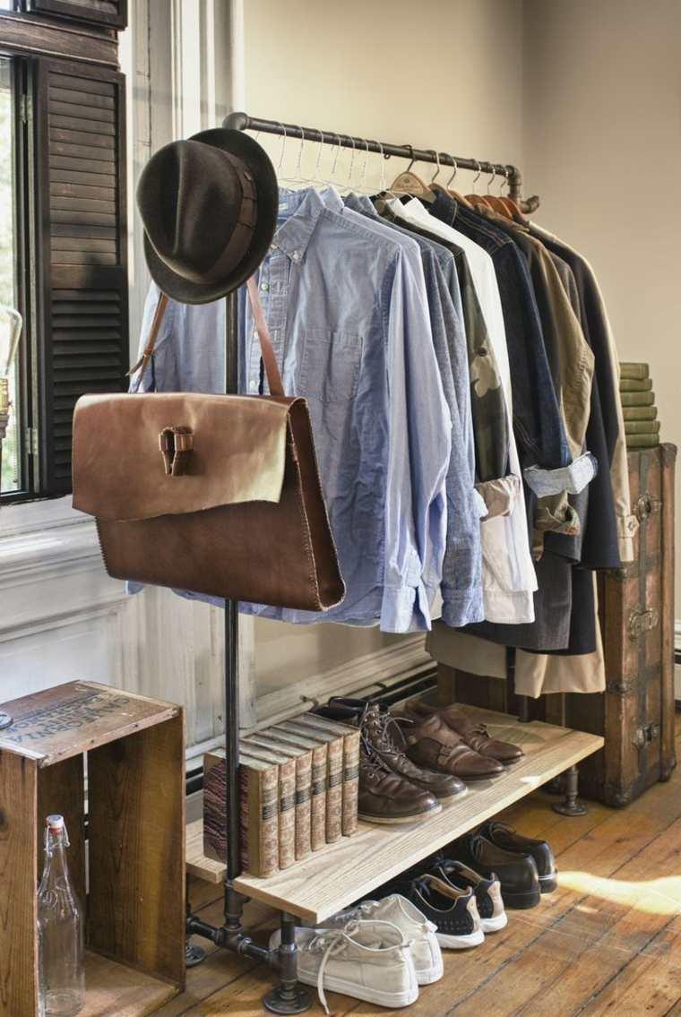 percha ropa masculina estilo vintage
