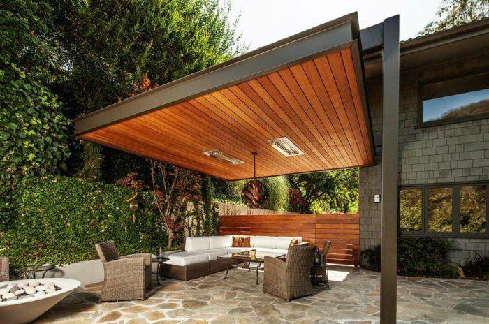 Pergolas de madera dise o pr ctico en 42 ideas creativas for Carpas de madera para jardin