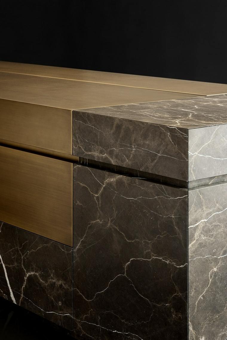 piedra natural madera cocina disenda NEOLITE TM Italia ideas