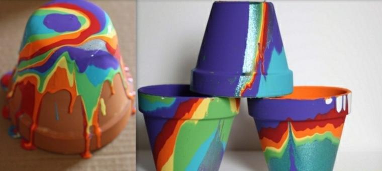 pintar macetas pintura colores