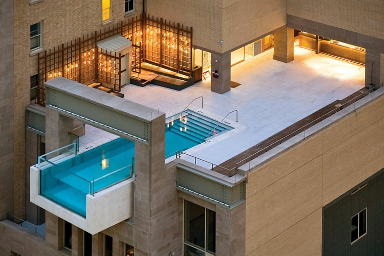 piscina transparente terraza opciones diseno ideas