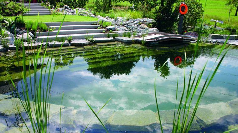 piscinas naturales jardines modernos