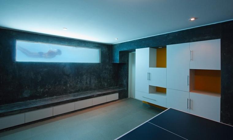 piscinas transparentes interior casa moderna ideas