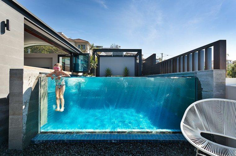 piscinas transparentes jardin moderno jardin opciones diseno ideas