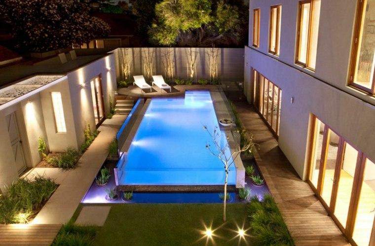 piscina transparente jardin moderno proyectos modernos ideas