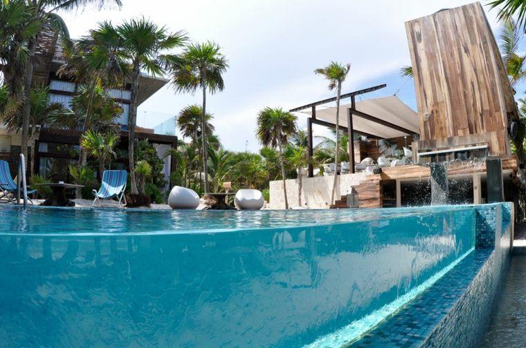 piscinas transparentes oasis aire libre ideas