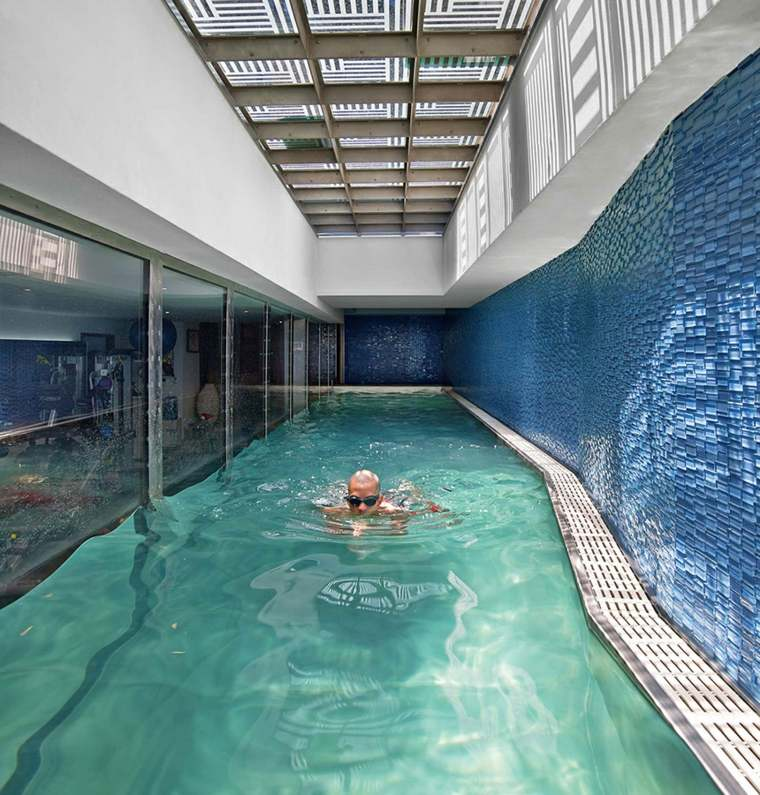 piscinas transparentes paredes cristal ideas