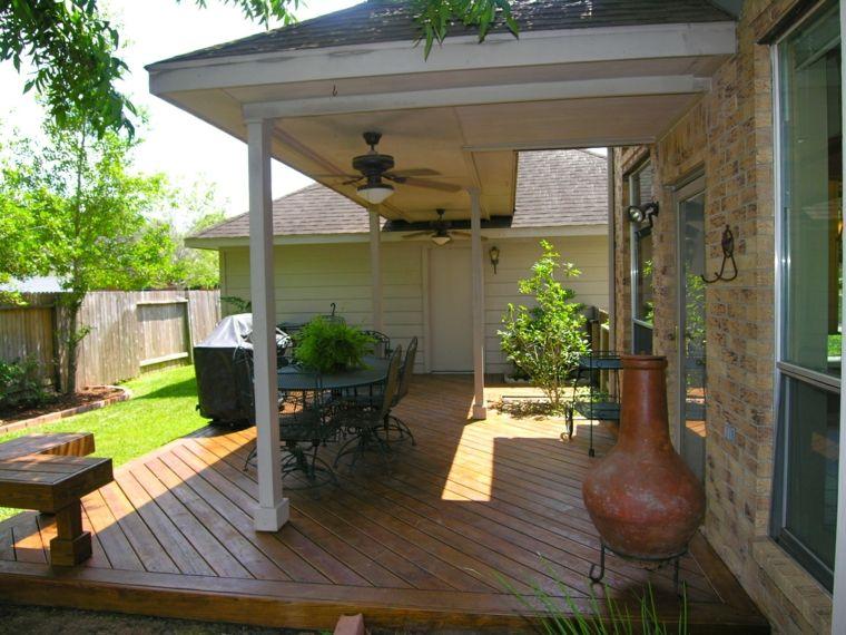 porche jardín suelo madera