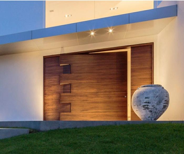 puerta diseño exclusivo jarrones led