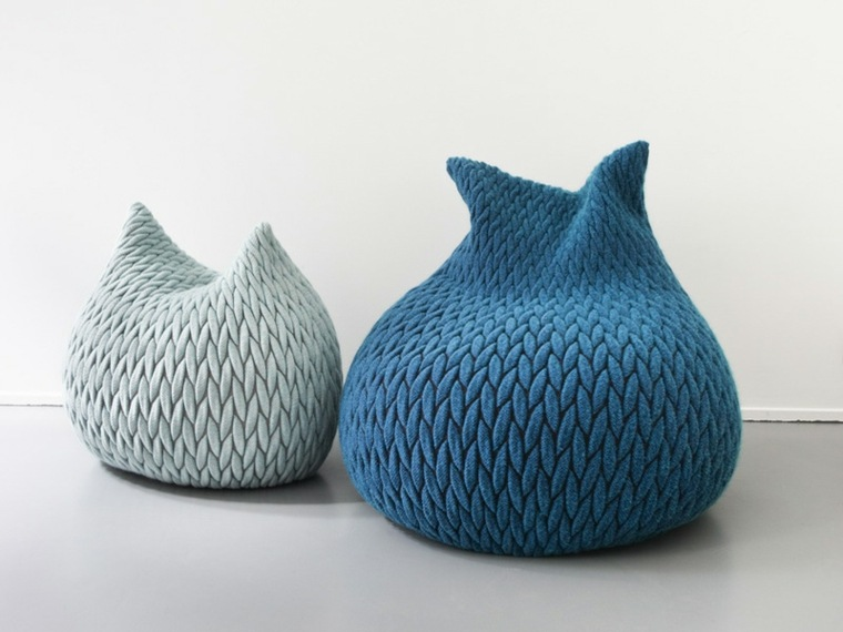 puff pera azules colores especiales ideas