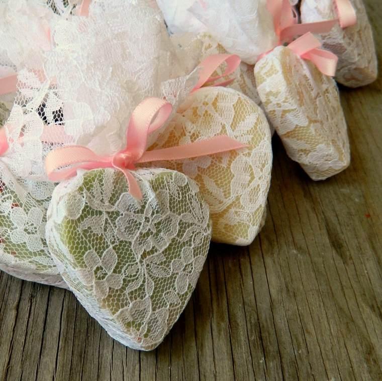 regalos boda originales jabon forma corazon ideas