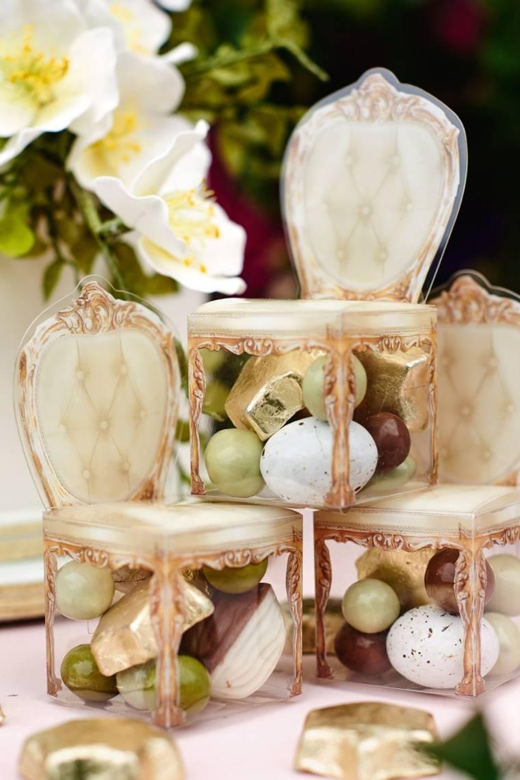 regalos de boda originales cajitas forma sillas ideas