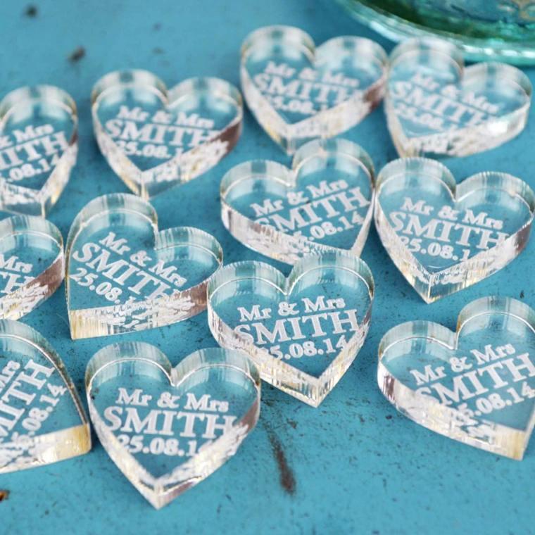 regalos de boda originales corazones cristal escrituras ideas