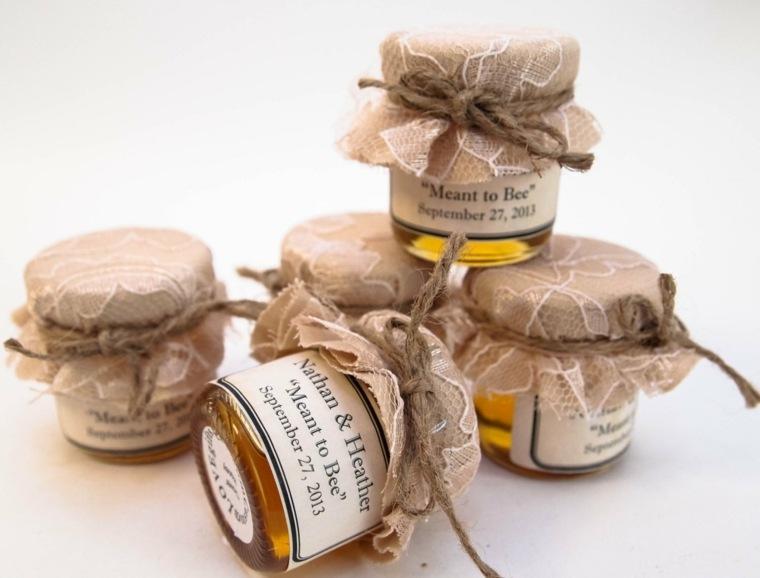 regalos de boda originales tarros miel ideas