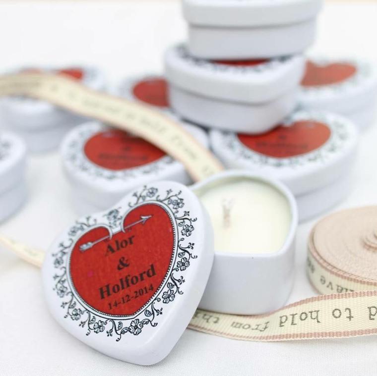 regalos de boda originales velas cajitas forma corazon ideas