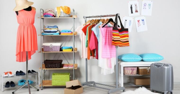 ropa ordenada colores vivos verano