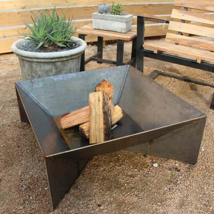 rustico acero patio conceptos plantas