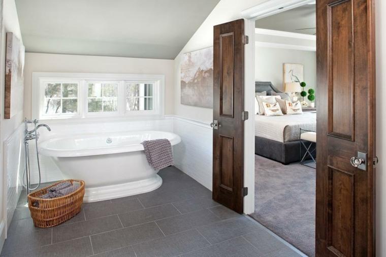 rustico naturales esquemas baños pequeño