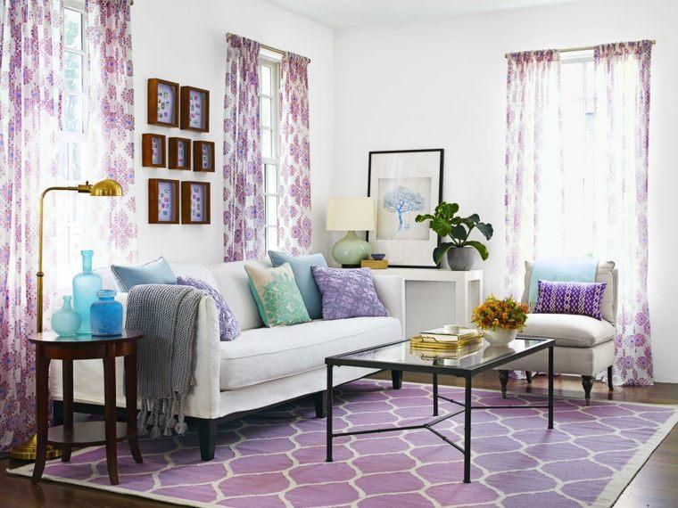 salon con encanto urbano cortinas alfombra precioso ideas