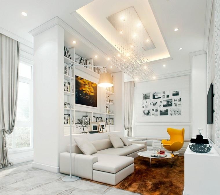 salon con encanto urbano decoracion maderna ideas