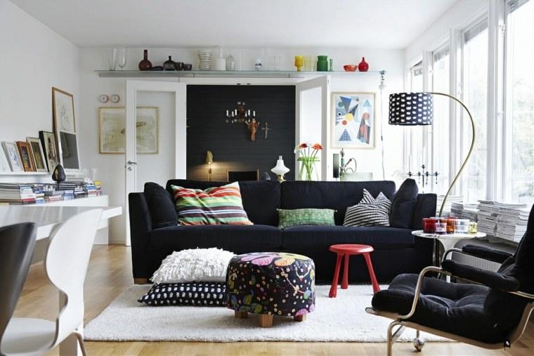 salon con encanto urbano estilo escandinavo ideas