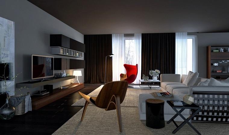 salon con encanto urbano muebles modernos ideas