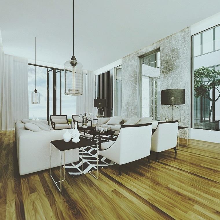 salon con encanto urbano rustico chic ideas