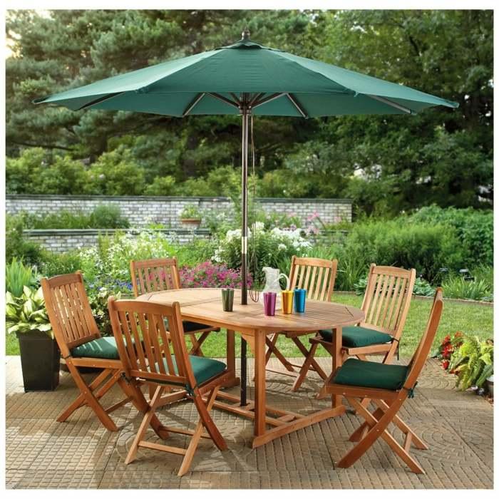 Dise241o economico y decorado de terrazas inspiradoras : sencilla sombrillas verdes mesas colores from casaydiseno.com size 700 x 700 jpeg 452kB