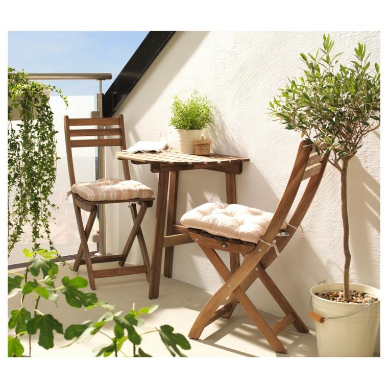 sillas madera plegables especiales balcones