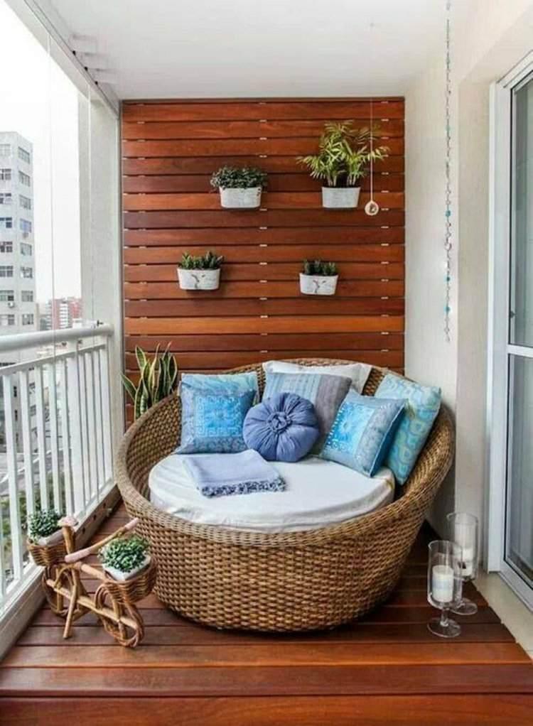 sillon cama nido mimbre terraza