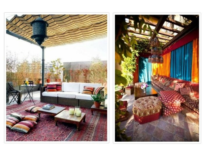 Estilo bohemio consejos y soluciones para patios y terrazas - Soluciones para terrazas ...
