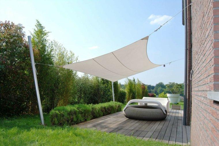 sombra y luz jardin lugar sombrio tela blanca muebles ideas