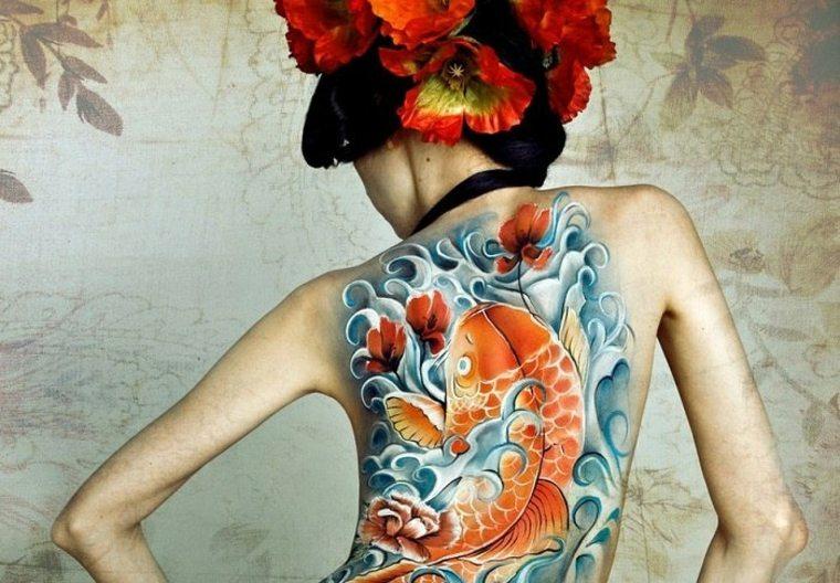 tatuaje espalda estilo japonés