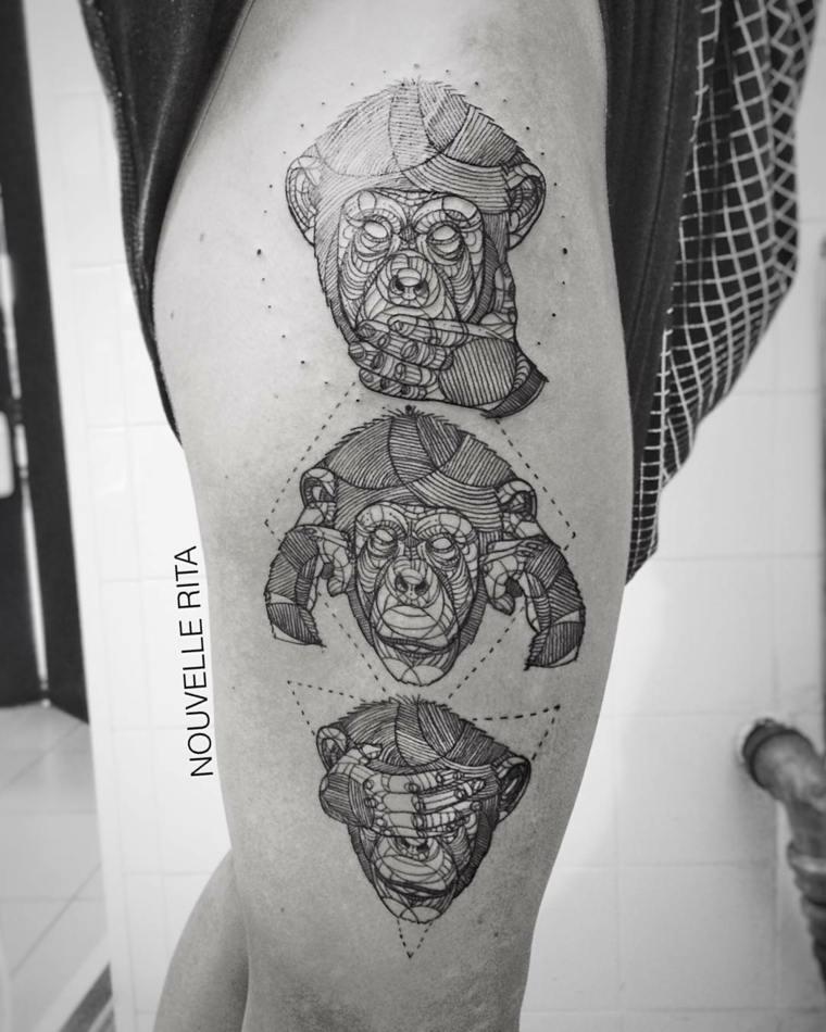 tatuaje tres monos gogh