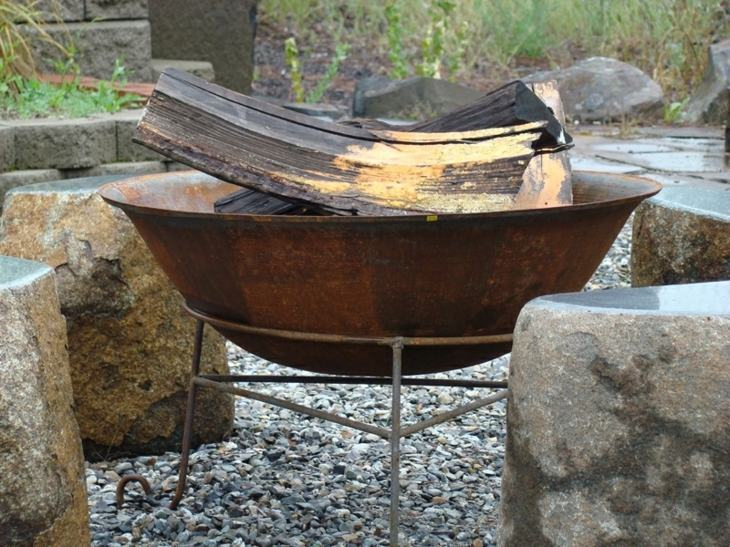 tazon metalico exteriores muebles rocas