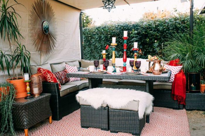 techados patios efectos salones coloridos