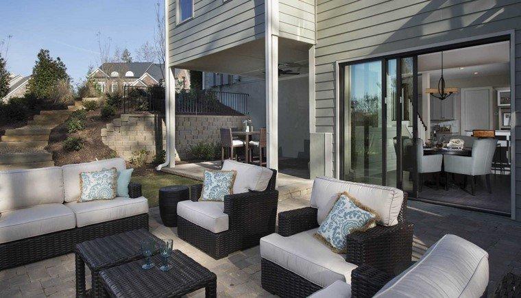 terraza moderna muebles ratan tipica eleccion aire libre ideas