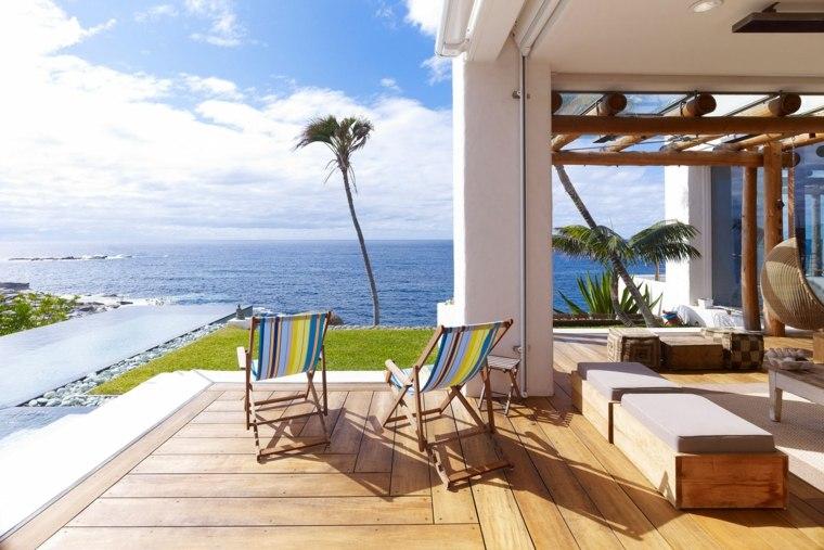 terraza residencia lujosa diseno suelo madera ideas