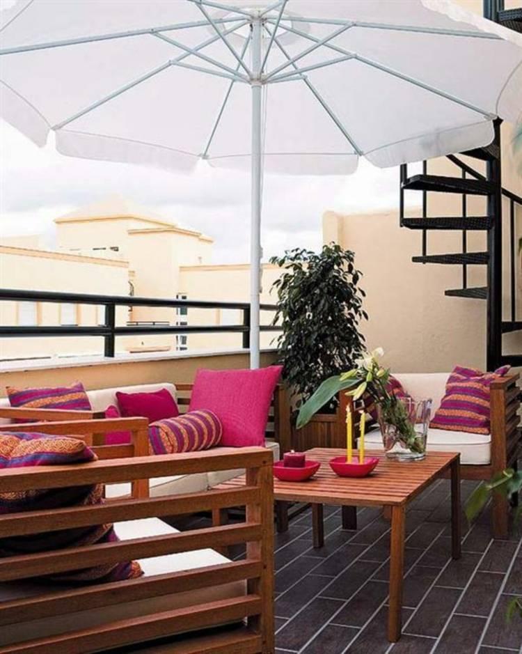 estupenda decoración terraza muebles
