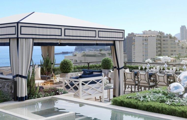 terrazas chill out decoracion lujosa piscina ideas