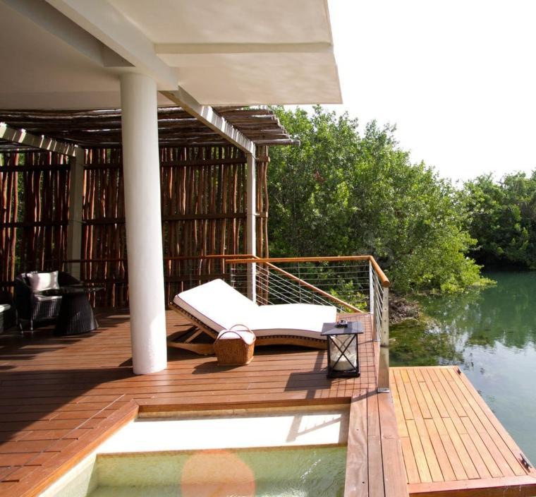 terrazas chill out decoracion tumbonas suelo madera ideas