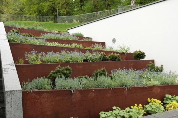 terrazas construcciones elevaciones suelos hormigon