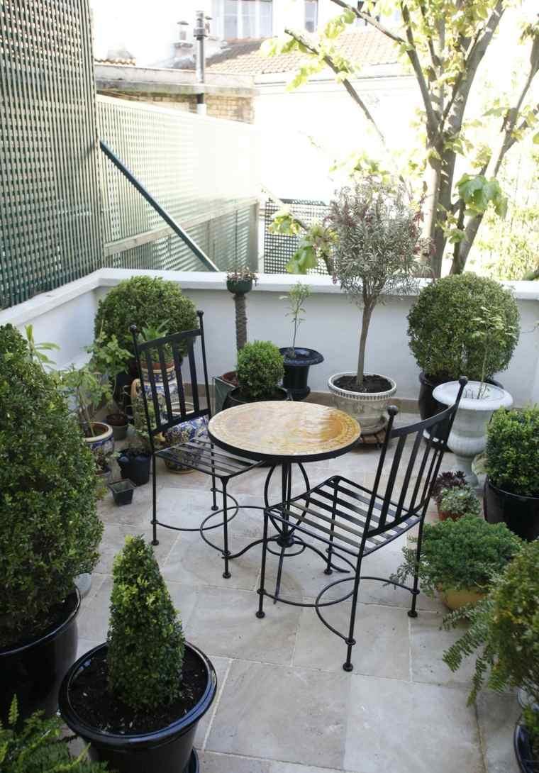 terrazas decoracion diseno balcon pequeno muebles acero ideas