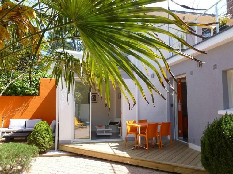 terrazas decoracion diseno muebles color naranja ideas