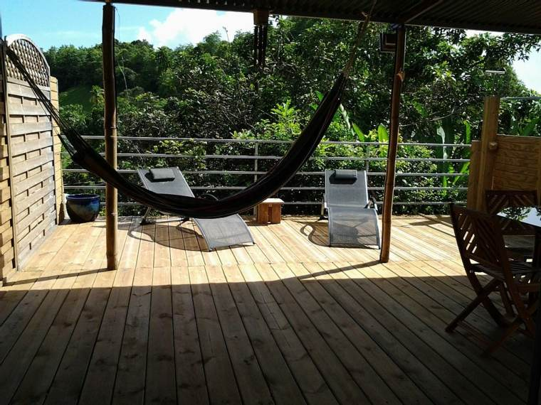 terrazas decoracion diseno suelo madera hamaca ideas